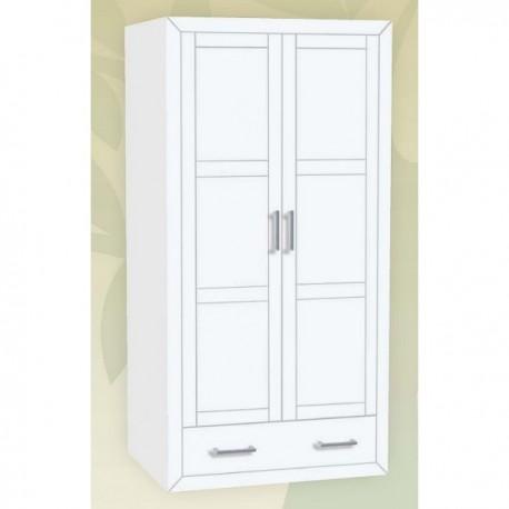 Armario 2 puertas  lacado en blanco, Kynus